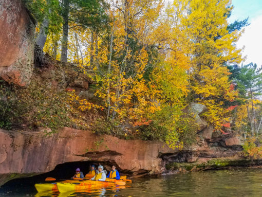 Apostle Islands Sea Caves Fall Colors