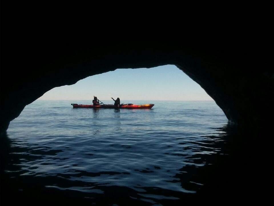 Sand Island Sea Caves Boat Tour (Kayaks Optional)